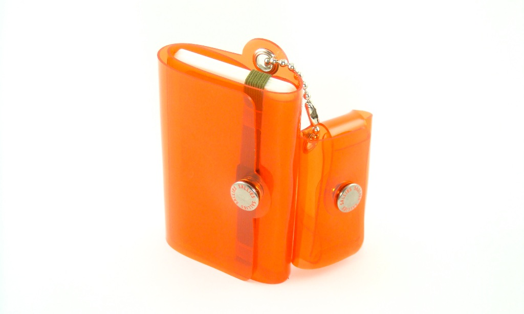 "Minimal Wallet "" POCKET PAL "" 【CLEAR ORANGE】"